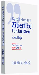 Zitierfibel für Juristen | Byrd / Lehmann | Buch (Cover)