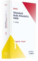 Wörterbuch Recht, Wirtschaft & Politik | Becher | Buch (Cover)
