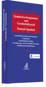 Standardvertragsmuster zum Gesellschaftsrecht = Modelos contractuales estándar de Derecho de Sociedades | Otto / Haneke / Sánchez | Buch (Cover)