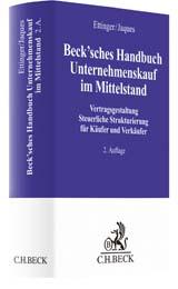 Beck'sches Handbuch Unternehmenskauf im Mittelstand | Ettinger / Jaques | Buch (Cover)