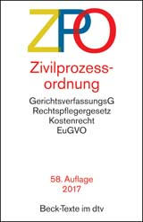 Zivilprozessordnung: ZPO | Buch (Cover)